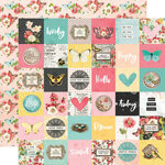 Simple Stories - Simple Vintage Cottage Fields Collection - 12 x 12 Double Sided Paper - 2 x 2 Elements