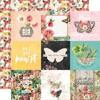 Simple Stories - Simple Vintage Cottage Fields Collection - 12 x 12 Double Sided Paper - 4 x 4 Elements