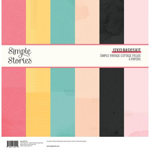 Simple Stories - Simple Vintage Cottage Fields Collection - 12 x 12 Basics Kit