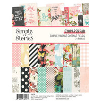Simple Stories - Simple Vintage Cottage Fields Collection - 6 x 8 Paper Pad