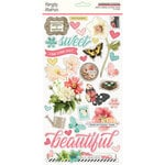 Simple Stories - Simple Vintage Cottage Fields Collection - 6 x 12 Chipboard Stickers