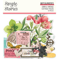 Simple Stories - Simple Vintage Cottage Fields Collection - Ephemera - Bits and Pieces