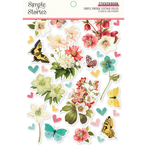 Simple Stories - Simple Vintage Cottage Fields Collection - Sticker Book
