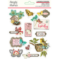 Simple Stories - Simple Vintage Cottage Fields Collection - Layered Stickers