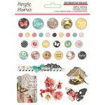 Simple Stories - Simple Vintage Cottage Fields Collection - Decorative Brads