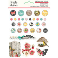 Simple Stories - Simple Vintage Cottage Fields Collection - Decorative Brads