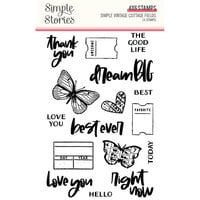 Simple Stories - Simple Vintage Cottage Fields Collection - Photopolymer Stamps