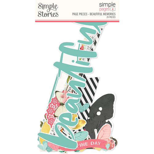 Simple Stories - Simple Pages Collection - Page Pieces - Beautiful Memories