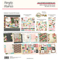 Simple Stories - Simple Vintage Cottage Fields Collection - 12 x 12 Collector's Essential Kit