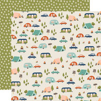 Simple Stories - Safe Travels Collection - 12 x 12 Double Sided Paper - Road Trip