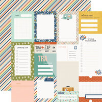 Simple Stories - Safe Travels Collection - 12 x 12 Double Sided Paper - Journal Elements