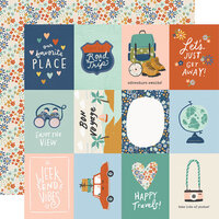 Simple Stories - Safe Travels Collection - 12 x 12 Double Sided Paper - 3 x 4 Elements