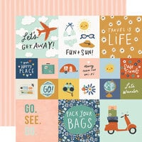 Simple Stories - Safe Travels Collection - 12 x 12 Double Sided Paper - 4 x 4 Elements