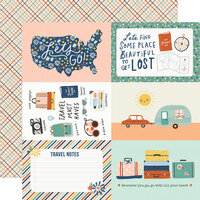 Simple Stories - Safe Travels Collection - 12 x 12 Double Sided Paper - 4 x 6 Elements