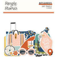 Simple Stories - Safe Travels Collection - Ephemera - Bits and Pieces