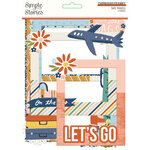 Simple Stories - Safe Travels Collection - Chipboard Frames