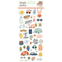 Simple Stories - Safe Travels Collection - Puffy Stickers
