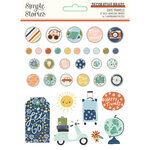 Simple Stories - Safe Travels Collection - Decorative Brads