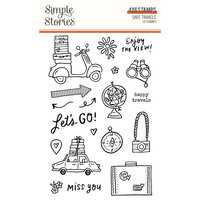 Simple Stories - Safe Travels Collection - Clear Photopolymer Stamps