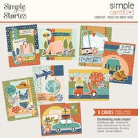 Simple Stories - Safe Travels Collection - Card Kit - Wish You Were Here
