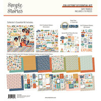 Simple Stories - Safe Travels Collection - 12 x 12 Collector's Essential Kit