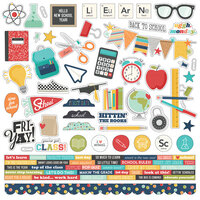 Simple Stories - School Life Collection - 12 x 12 Cardstock Sticker Sheet