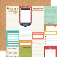 Simple Stories - School Life Collection - 12 x 12 Double Sided Paper - Journal Elements
