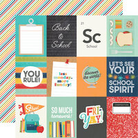 Simple Stories - School Life Collection - 12 x 12 Double Sided Paper - 3 x 4 Elements