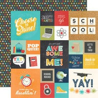 Simple Stories - School Life Collection - 12 x 12 Double Sided Paper - 4 x 4 Elements
