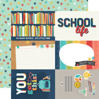 Simple Stories - School Life Collection - 12 x 12 Double Sided Paper - 4 x 6 Elements