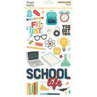 Simple Stories - School Life Collection - 6 x 12 Chipboard Stickers