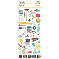 Simple Stories - School Life Collection - Puffy Stickers