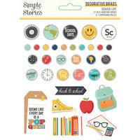 Simple Stories - School Life Collection - Decorative Brads