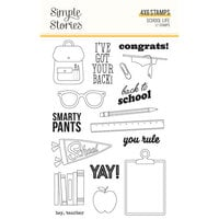 Simple Stories - School Life Collection - Clear Photopolymer Stamps