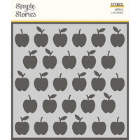 Simple Stories - School Life Collection - 6 x 6 Stencils - Apples