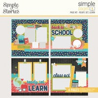Simple Stories - Simple Pages Collection - Page Kit - Ready. Set. Learn.