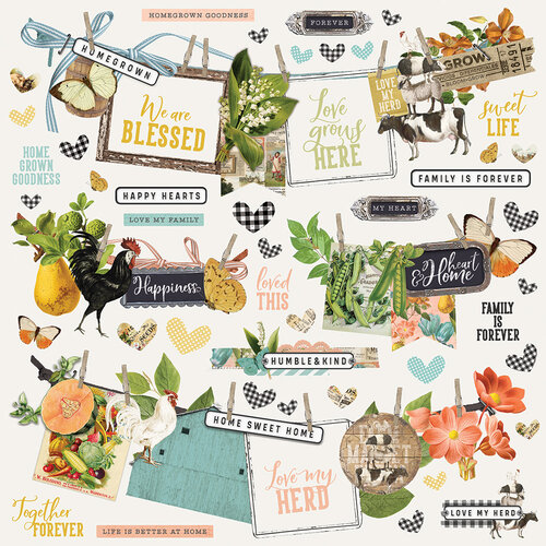 Simple Stories - Simple Vintage Farmhouse Garden Collection - 12 x 12 Cardstock Stickers - Banners