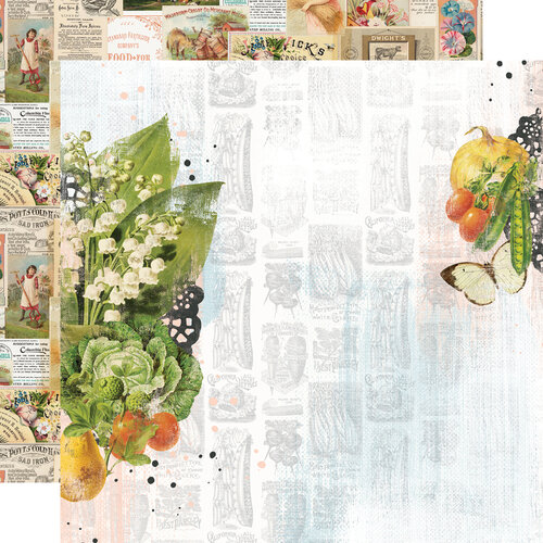 Simple Stories - Simple Vintage Farmhouse Garden Collection - 12 x 12 Double Sided Paper - The Sweet Life