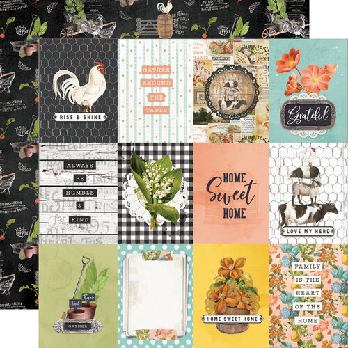 Simple Stories - Simple Vintage Farmhouse Garden Collection - 12 x 12 Double Sided Paper - 3 x 4 Elements