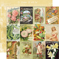 Simple Stories - Simple Vintage Farmhouse Garden Collection - 12 x 12 Double Sided Paper - 3 x 4 Seed Packet Elements