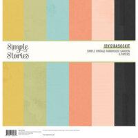 Simple Stories - Simple Vintage Farmhouse Garden Collection - 12 x 12 Basics Kit