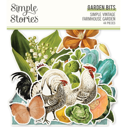 Simple Stories - Simple Vintage Farmhouse Garden Collection - Ephemera - Garden Bits