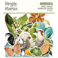 Simple Stories - Simple Vintage Farmhouse Garden Collection - Ephemera - Garden Bits