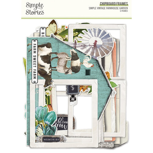 Simple Stories - Simple Vintage Farmhouse Garden Collection - Chipboard Frames