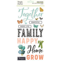Simple Stories - Simple Vintage Farmhouse Garden Collection - Foam Stickers