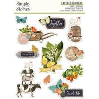 Simple Stories - Simple Vintage Farmhouse Garden Collection - Layered Stickers