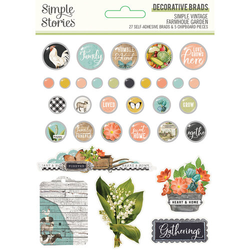 Simple Stories - Simple Vintage Farmhouse Garden Collection - Decorative Brads
