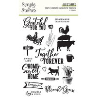 Simple Stories - Simple Vintage Farmhouse Garden Collection - Clear Photopolymer Stamps