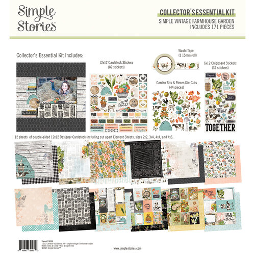 Simple Stories - Simple Vintage Farmhouse Garden Collection - 12 x 12 Collector's Essential Kit