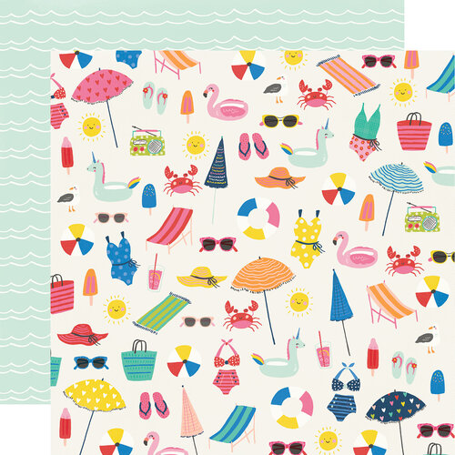 Simple Stories - Sunkissed Collection - 12 x 12 Double Sided Paper - Make A Splash